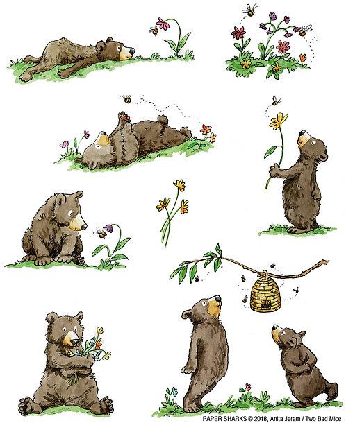AJ522 Country Bears Apron