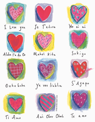RS301  Love You Hearts Apron