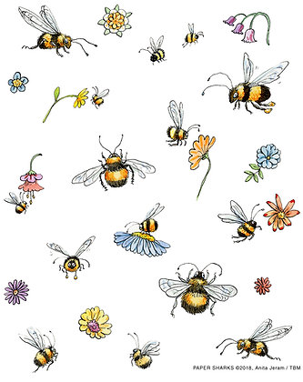 AJ524 Bumble Bees Apron