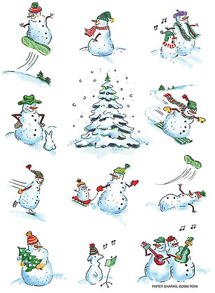 RS460  Xmas Snowmen