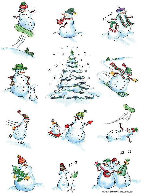 RS460  Xmas Snowmen Apron