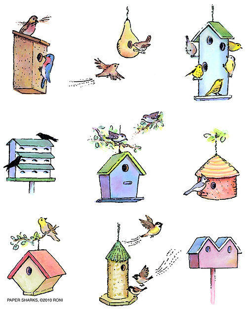 RS124  Birdhouse Select Apron