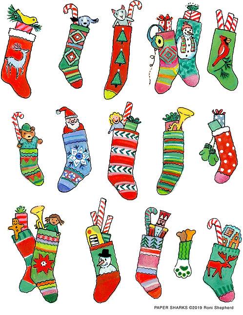RS611 Christmas Stockings Apron