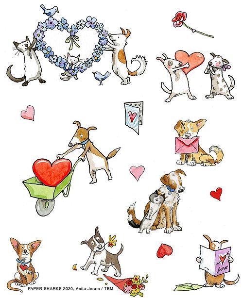 AJ529 Puppy Love