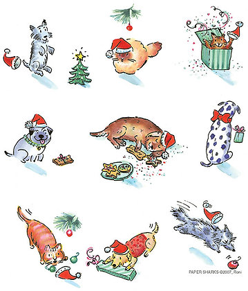 RS450  Christmas Cats and Dogs