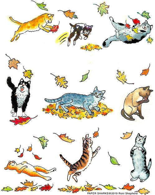 RA358 Fall Cats Apron
