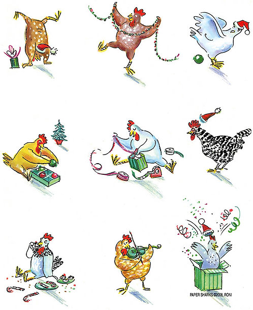 RS457  Xmas Chickens