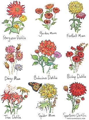 RA124 Autumn Flowers Apron