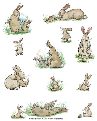 AJ513 Rabbit Family Apron