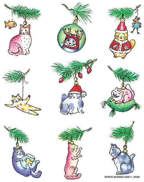 RS472  Cat Ornaments