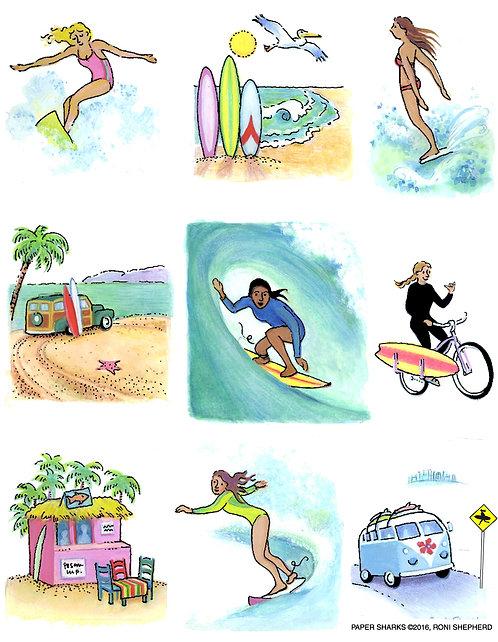 RS327 Surfer Girl Apron