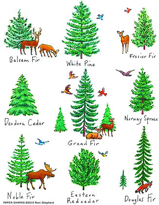 RS170 Forest Trees Apron