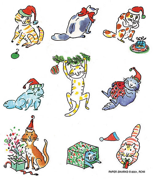 RS402  Christmas Cats