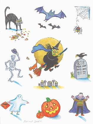 RA103  Halloween Apron
