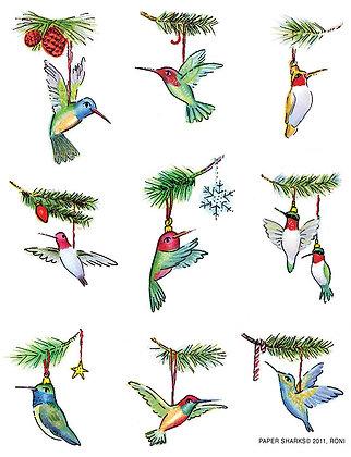 RS476  Hummingbird Ornaments
