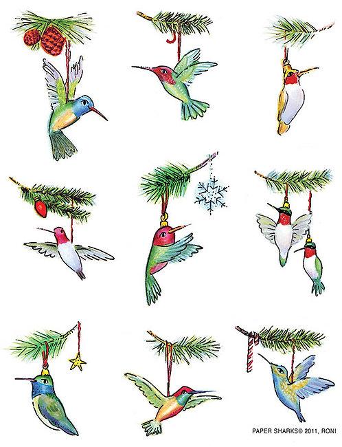 RS476  Hummingbird Ornaments Apron