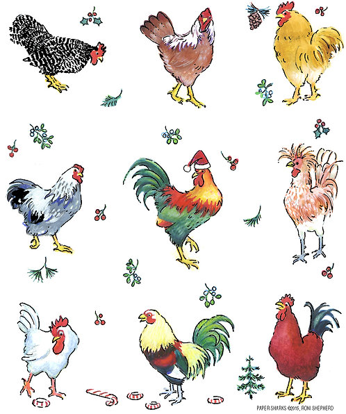 RS494 Candy Cane Roosters