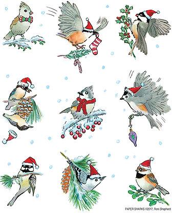 RS423 Little Christmas Birds Apron