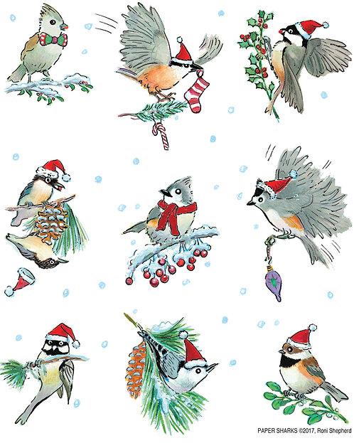 RS423 Little Christmas Birds