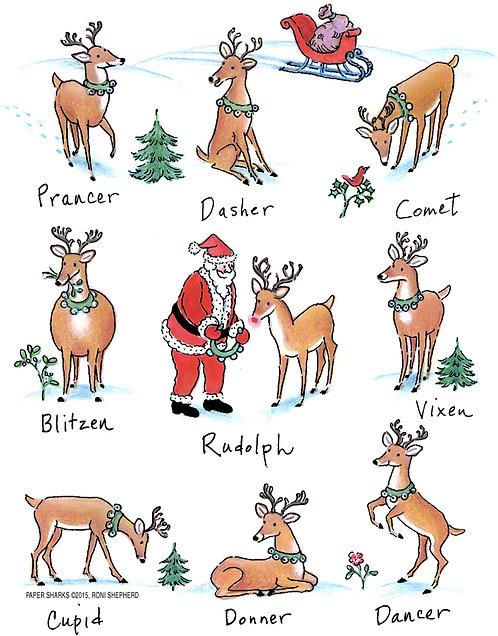 RS493  Santa's Reindeer