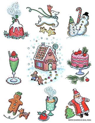 RS467  Christmas Goodies Apron