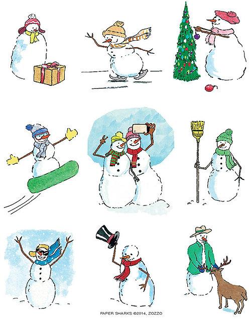 ZZ620  Snowmen Selfie Apron