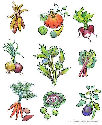 RS320 Harvest Veggies Apron