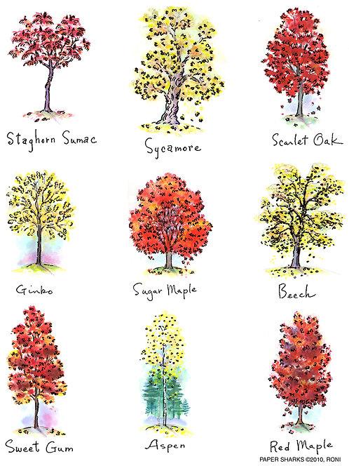 RA111  Fall Trees Apron