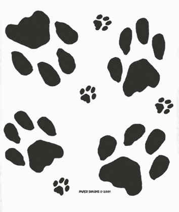 PS102  Dog Paw Prints Apron