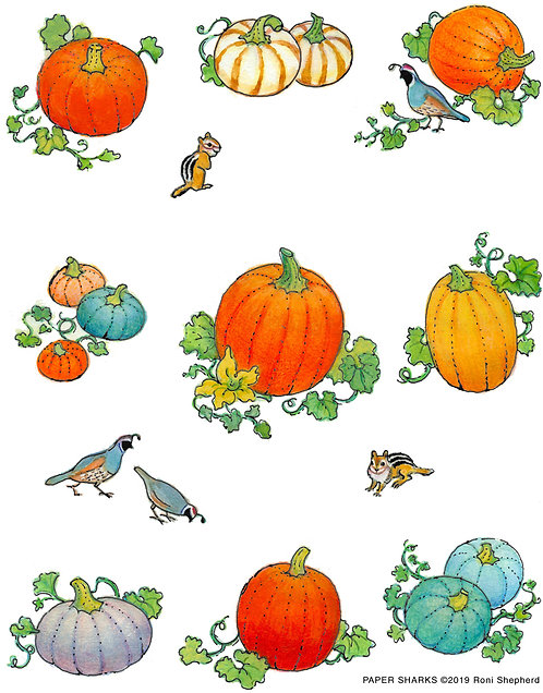 RA357 Pumpkins in the Garden