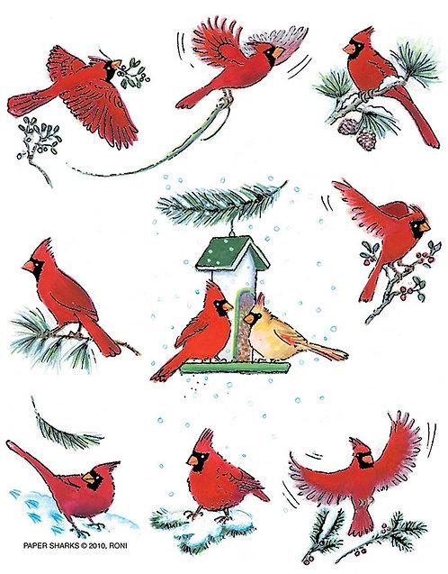 RS465  Cardinal Xmas Apron