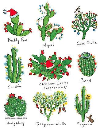 RS478  Cactus Xmas Apron