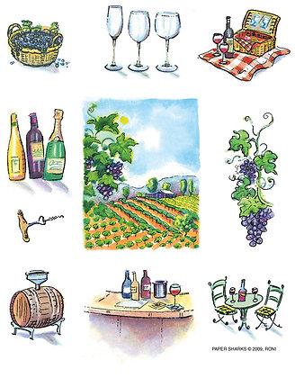 RS120  World of Wine Apron