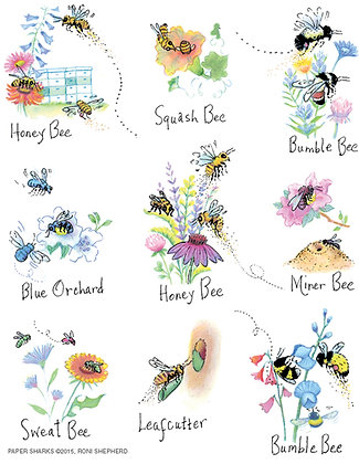 RS154  Nature Bees