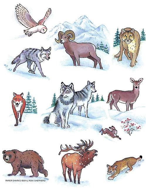 RS491  Winter Animals Apron