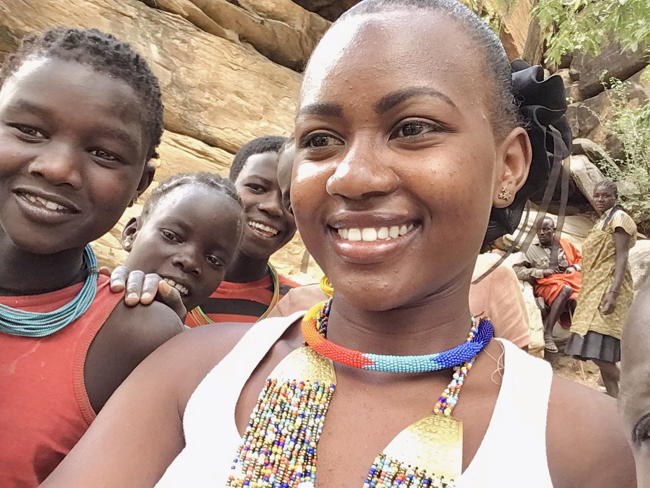 Selfie with young women in Nakabaat Mining site