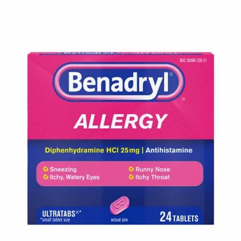 Diphenhydramine HCl 25mg Benadryl