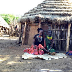 A woman at her home in Nakiloro
