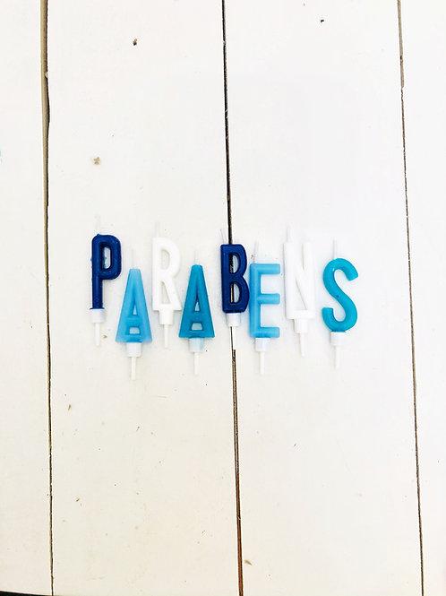 Vela PARABÉNS azul