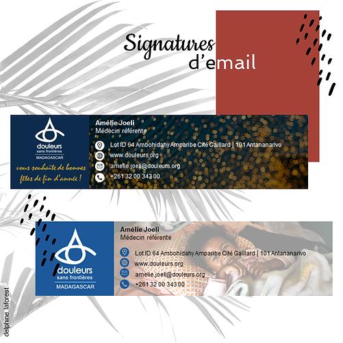 Signatures d'email