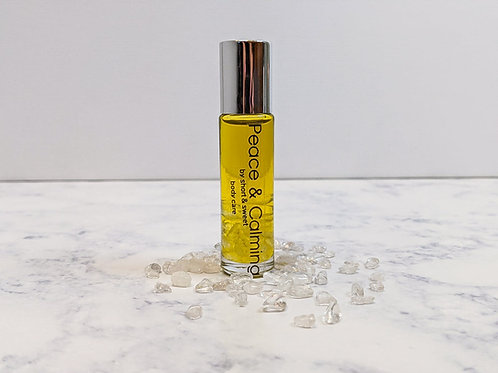 Peace & Calming Essential Oil Rollerball with Crystals