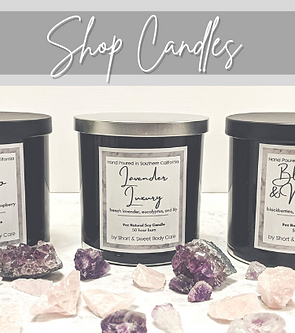 Shop Candles at Short & Sweet Body Care