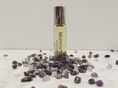 Mommy Fuel Essential Oil Rollerball with Crystals
