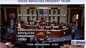Todos los republicanos que votaron para acusar a Trump por segunda vez.