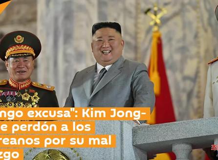 """""""No tengo excusa"""": Kim Jong-un pide perdón a los norcoreanos por su mal liderazgo."""