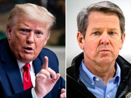 Trump dice que está 'avergonzado' de haber respaldado al gobernador de Georgia, Brian Kemp.