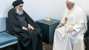 Líder chií iraquí Sistani le dice al Papa Francisco que los cristianos deben ser protegidos.