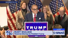 Giuliani: 'Fraude masivo' utilizado para robarle las elecciones a Trump.