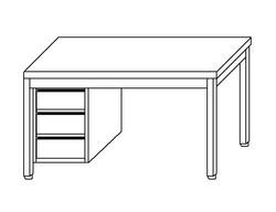 Tavolo con cassettiera