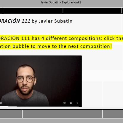 EXPLORACIÓN 111 series of interactive compositions at Gaudeamus Music Week 2020